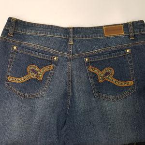 Rocawear Bootcut Blue Jeans Stretch Denim